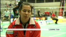 Portret van Lianne Tan, Belgisch badmintonkampioene