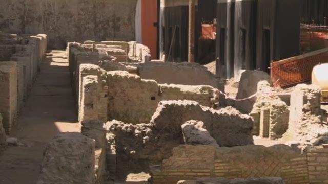[VIDEO] - Romeinse metrobouwers botsen op antieke kazerne