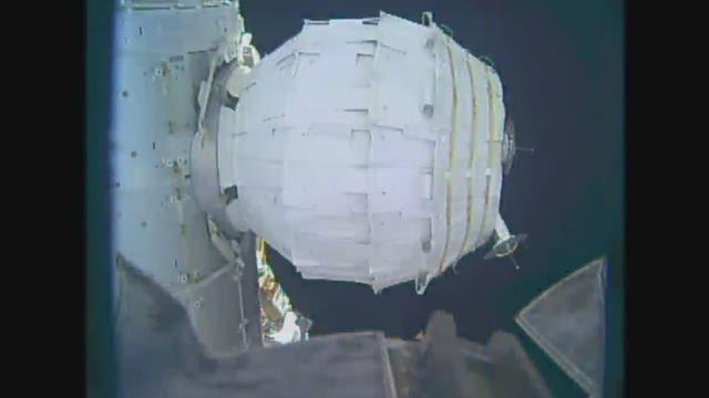 [VIDEO] - NASA heeft nieuwe module van ISS opgeblazen