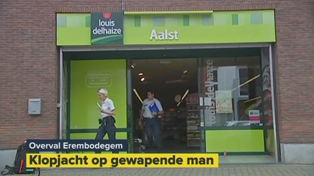 Overval op Louis Delhaize in Aalst, één dader gevat