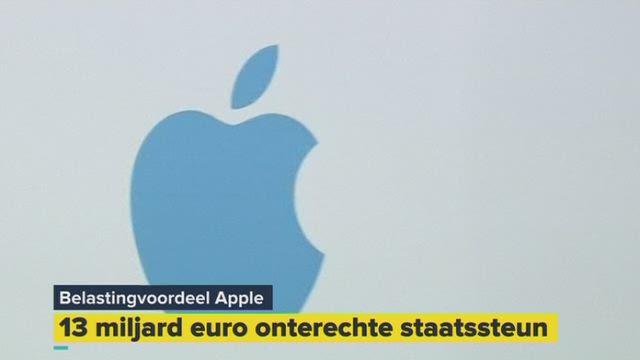 Apple moet meer dan 13 miljard euro betalen aan Ierland