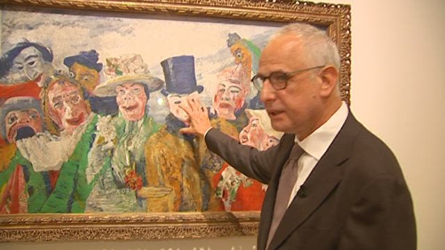 "... "" Britons can discover James Ensor at the Royal Academy in London"