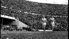 Emil Zatopek goud marathon in Helsinki (1952)