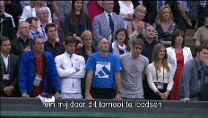 Een emotionele Andy Murray