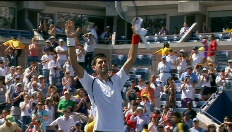 Djokovic wint van Ferrer in de halve finale