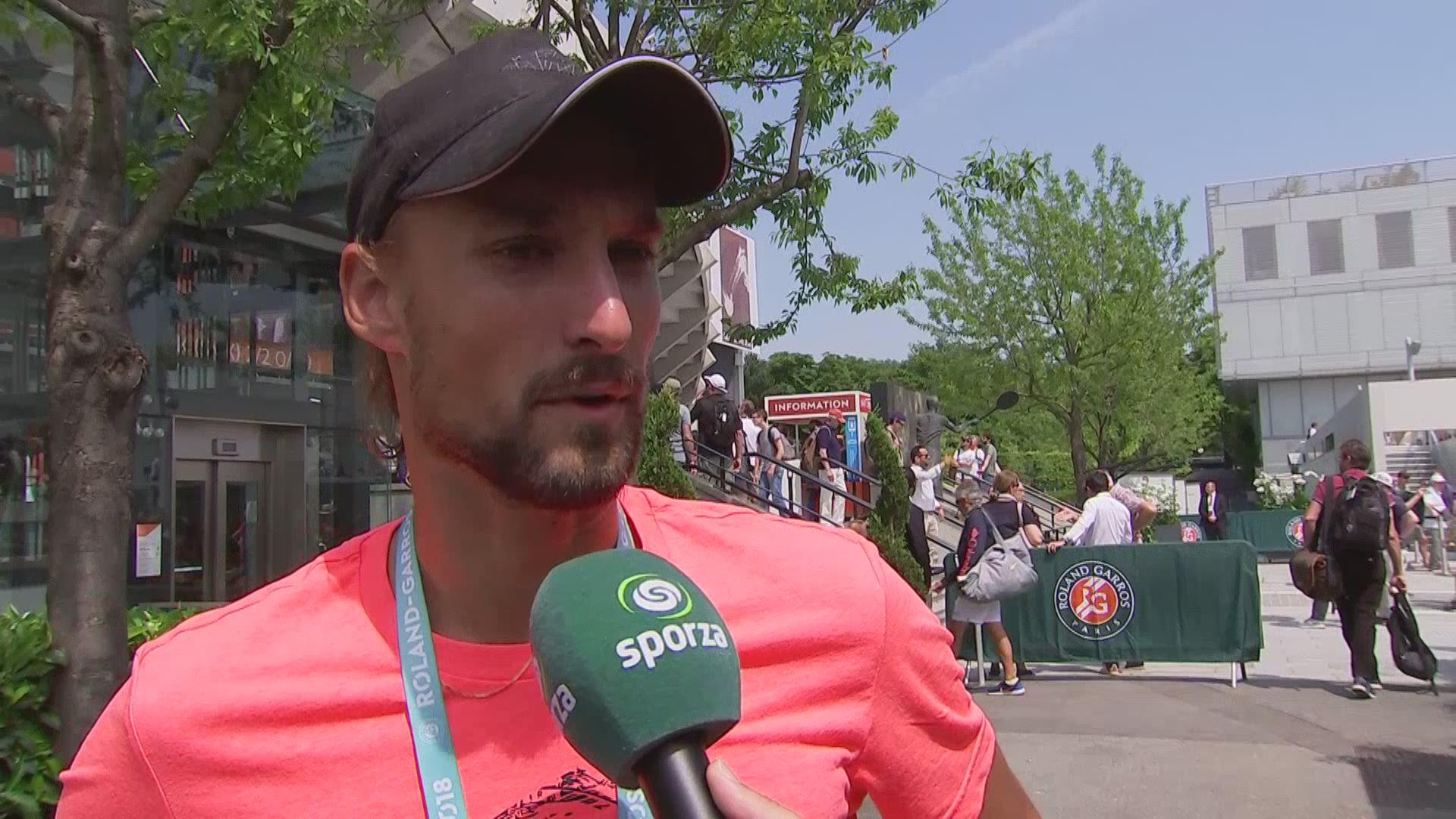 Roland Garros Handdoek.Sporza Tennis Nieuwskoppen Belgie